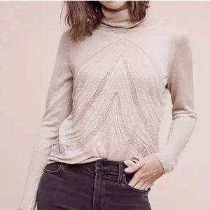 Angel of the North   Gold Shimmer Turtleneck Small